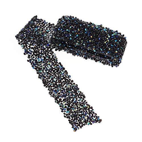 supvox nastro strass nastro diamante Rotolo di strass diamante nero blu fabbricazione di gioielli Couture Decoration bricolage torte di matrimonio