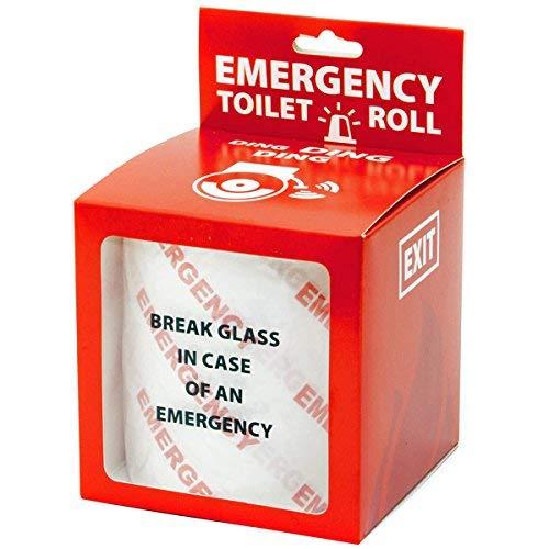 GOODS+GADGETS Notfall Klopapier Fun WC Toilettenpapier im Notfall Scheibe einschlagen Emergency Fun WC-Papier; Zum Lachen auf dem Örtchen!