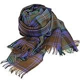 [ロキャロン] Lochcarron of scotland英国スコットランド製 ストール 薄手 ピュアニューウール 大判 タータンチェック (アイルオブスカイ)