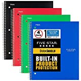 Five Star DuraShield Notebook with Antimicrobial Front Cover, 1 Subject, College Ruled, 11' x 8-1/2', 4 Pack...