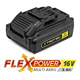 TROTEC Zusatz-Akku Flexpower 16V 2,0 Ah Lithium-Ionen-Akku (16-V-Ersatzakku für Trotec-Powertools aus dem Trotec-Flexpower-Programm)