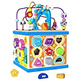 Baby Aktivität Würfel Spielzeug, Aktivitätswürfel Montessori, Holz Motorikwürfel 5-in-1,...