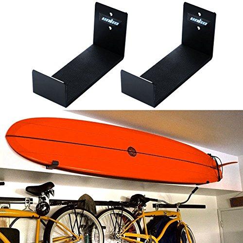 Alta calidad: Está hecho de aluminio, resistente y ligera. Proporciona a su placa un almacenmiento seguro y liviano, lo suficientemente fuerte como para soportar las tablas de surf Ahorre espacio: Una excelente solución para ahorrar espacio y ayudar ...