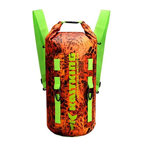 KastKing Downpour Floating Waterproof Dry Bags, Firestorm Backpack, 10L