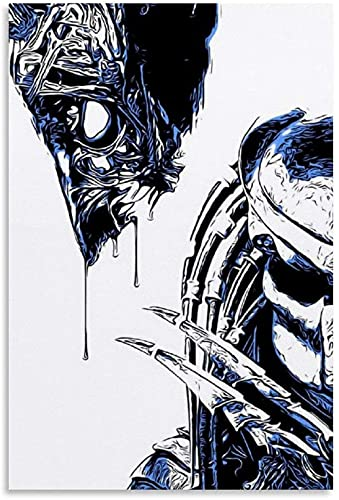JSYEOP Póster decorativo de Alien Vs Depredator de 40 x 50 cm