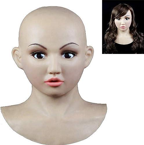 para mayoristas SEYJ Desnaturalizado máscara de Silicona-Angel Facial rol para para para travesti transexual Amor Sexual simulado Belleza máscara de Hombre  Vuelta de 10 dias