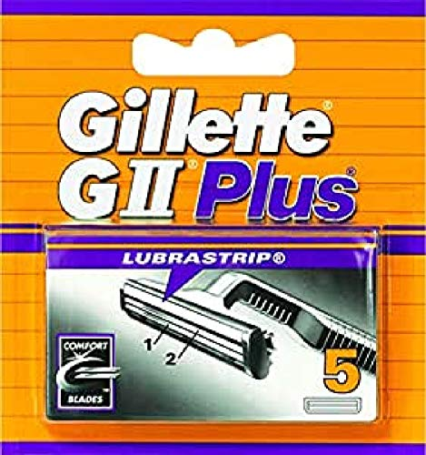 Gillette GII Plus - Recambio de Maquinilla de Afeitar para Hombre 5Recambios