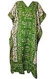 Ukal Women's Kaftan V Neck Kimono Nightgown Loose Bohemian Cardigan Long Maxi Summer Beachwear Swimsuit Cover up Beach Dress