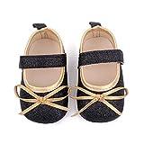YWLINK Bebé NiñA Zapato De Princesa con Cinta MáGica para 0-20 Meses NiñOs Primeros Pasos Zapatos De Cuero con Lazo Casual Moda Antideslizante Flor Suave Suela