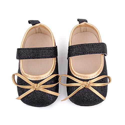 YWLINK Bebé NiñA Zapato De Princesa con Cinta MáGica para 0-21 Meses NiñOs Primeros Pasos Zapatos De Cuero con Lazo Casual Moda Antideslizante Flor Suave Suela