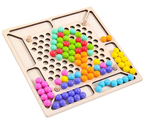 SY-Home Clip Puzzle en Bois Perle Jouet, numérique Cognitive Puzzle Formation Habiletés motrices pour Les garçons Filles Enfants Tout-Petits