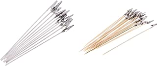 IPOTCH 30/Pack Metal Alligator Clips Crocodile Clamps, Metal & Wooden Stick for Airbrush Hobby Model Parts