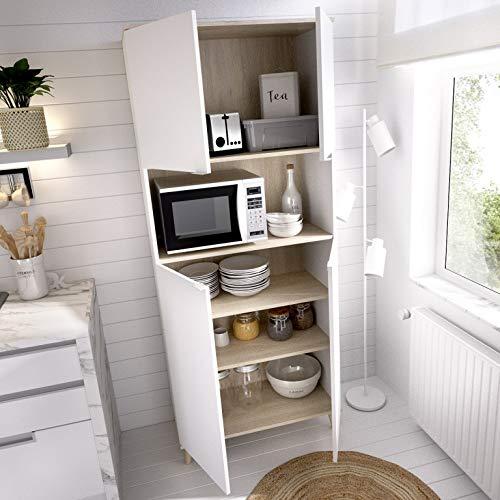 HABITMOBEL Mueble Cocina con Gran Capacidad Gracias a un Hueco y Dos Compartimentos Cerrados con estantes.