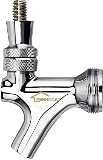 FERRODAY Stainless Steel Core Draft Beer Faucet Polished Beer Faucet for Keg Tap Tower..