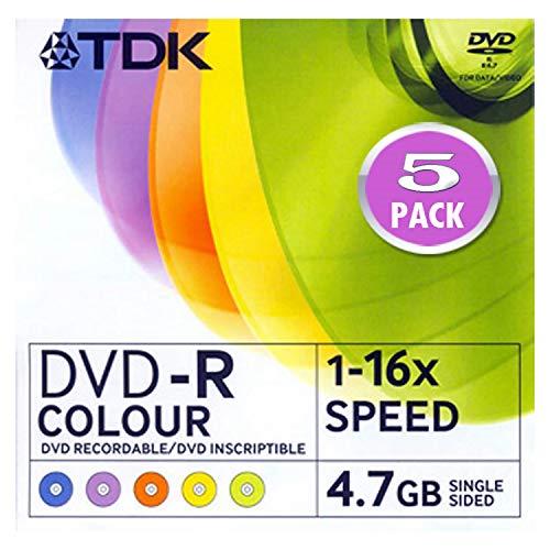 Pack de 5 DVD-R Tdk 4.7 GB. Slim (Precio x Pack)