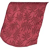 Classic Home Store Decorative Traditional Leaf Design Antimacassar Chair Back (Burgundy)