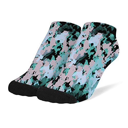 Women's Compression Socks Breathable Cushioned Crew Socks Camo-camouflage-texture- Arch Support Low Cut Bobbysocks