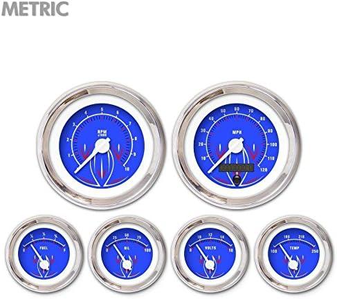 Aurora Outstanding Instruments 5707 Pinstripe II Blue Wh Max 42% OFF 6-Gauge Set Metric