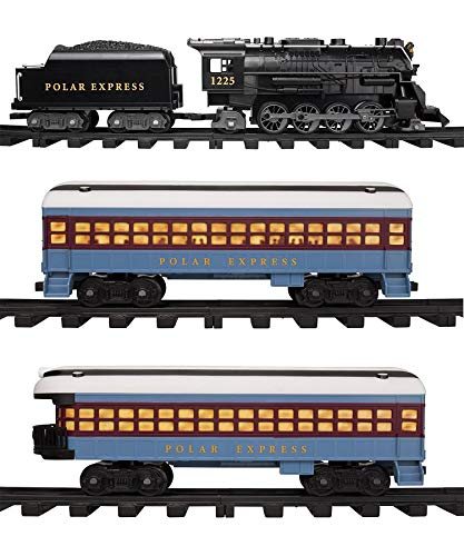 Lionel Polar Express Train Set with Bonus Santa's Bell – Fun, Interactive, Ready to Play Holiday Model Train Set with Working Headlight, Whistle & Bell