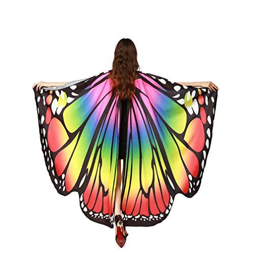 Kfnire Mariposa Alas Chal para Mujer Niña y Niños,