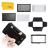 BOLING BL-P1 LED Video Light Accessori, con porta di granaio, diffusore morbido, nido d'ape e borsa per il trasporto permette di avere più diversi effetti di luce
