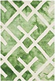 Safavieh Dip Dye Collection DDY677Q Handmade Moroccan Watercolor Premium Wool Accent Rug, 2' x 3', Green / Ivory