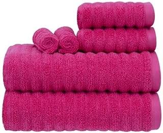 Mainstay MS8828037908-14 6 Piece Performance Texture Bath Towel Set - Fuchsia Blast