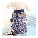 Kevinliu Cálido clásica ropa for perros perrito del animal doméstico del gato ropa suéter de la capa del invierno manera suave Chaqueta for la ropa de la camisa de vestir trajes de boda del perro ropa