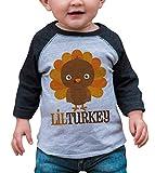 7 ate 9 Apparel Baby Boy's Little Turkey Thanksgiving 12 Months Grey Raglan