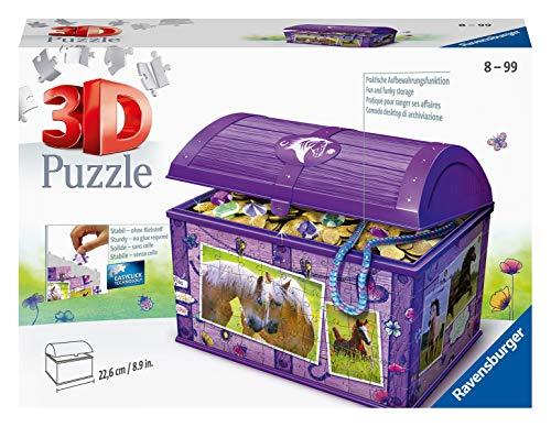 Ravensburger 3D Puzzle 11173 - Schatztruhe Pferde - 216 Teile