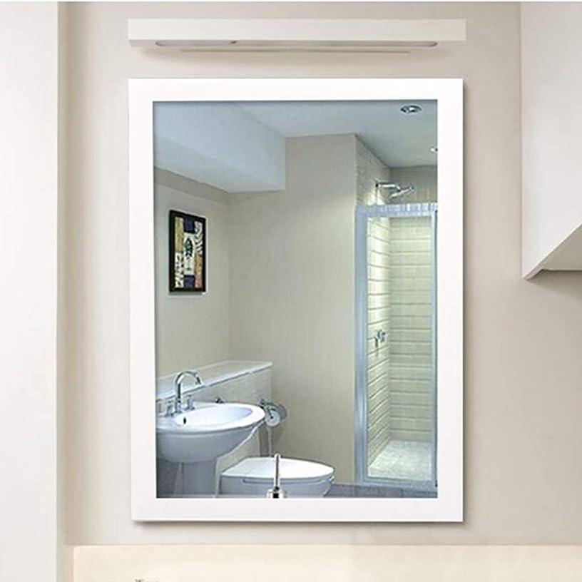 犯罪回復する保証するメイクアップミラー, 長方形の壁に取り付けられたバスルームミラー、化粧鏡、バニティミラー、シェービングミラー、2つのサイズ(35 * 45CM、60CM * 40、* 70CM 50) 浴室用化粧鏡 (Color : White, Size : 50*70CM)