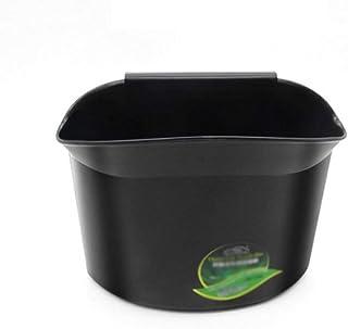 YUSHHO56T Car Bin Interior Storage Storage Container Fashion Waste Basket Trash Can Litter Container Car Auto Garbage Bin Storage Bag Black