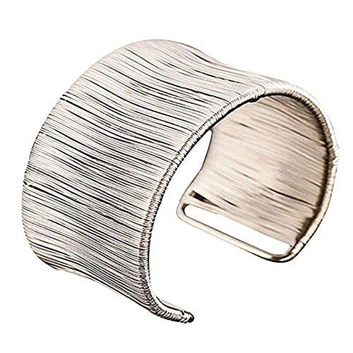 Carry stone Premium-Qualität Oberarm Armband Eröffnung Armreif Punk Schmuck handgefertigten Draht goldene Silberlegierung Frauen Lady Girl Geschenk