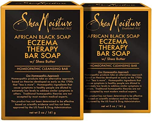 SheaMoisture African Black Soap Eczema Therapy Bar Soap Pack of 2 5 Ounce product image