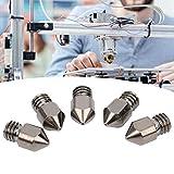 Juego de boquillas de impresora 3D 5 unids/set boquillas extrusoras Kits de limpieza de boquillas para impresora 3D accesorios de impresora 3D(0.5mm)