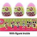 Disney Huevos sorpresa, repostería, diseño de Minnie Mouse, lote de 3 huevos