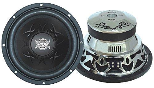 Lanzar VW104 Vibe 10-Inch 1200 Watt 4 Ohm Chrome Subwoofer