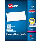 """Avery Address Labels with Sure Feed for Laser Printers, 0.5"""" x 1.75"""", 20,000 Labels, Permanent Adhesive (5967), White"""
