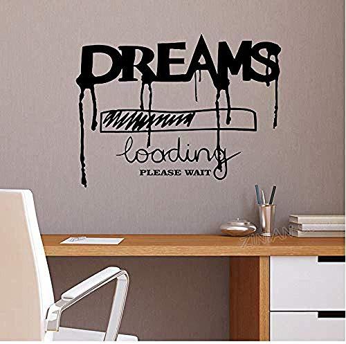 Träume Laden Inschrift Worte Vinyl Wandaufkleber Wohnkultur Wohnzimmer Lustige Kreative Wandtattoo Zitat für Schlafzimmer 56x42 cm
