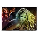 Shakira Poster sur toile et décoration murale Motif Shakira 40 x 60 cm