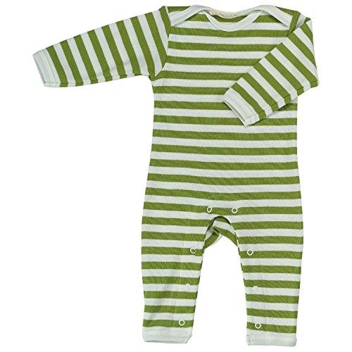 Pigeon-organics For Kids Grenouillère Pyjama Romper Long Stripes Vert 3-6 m