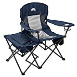 Coastrail Outdoor Folding Camping Chairs with Cooler Table Side Bag, Heavy Duty Steel 300 LBS...