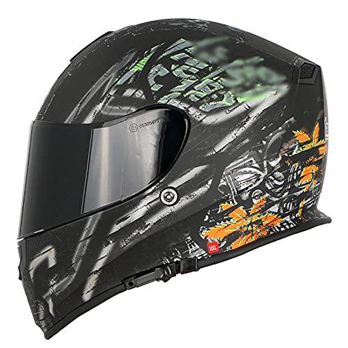 Casco Moto Modular Flip Up Casco de cara completa con Doble Visera Casco de Motocicleta ECE/DOT Homologado Cascos de motocross Transpirable y cálido para Mujer Hombre Adultos J,XXL63-64CM