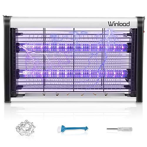 Winload Mosquito Lampara con Luz UV, 4W LED Lámpara Mata Moscas, Polillas, Electrónica Interior Anti-Insectos, Atrapa Insectos Electrico, Control Insecto Efecto 80m²