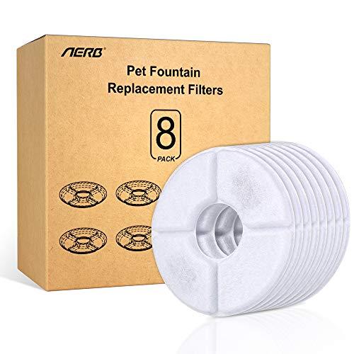 Aerb Ersatzfilter für Trinkbrunnen, Cat Fountain Ersatzfilter mit Harz und Aktivkohle (8 Packs)