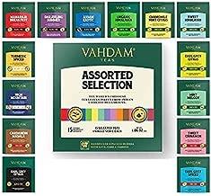 VAHDAM, Tea Variety Pack   15 FLAVOURS   Award Winning Tea Sampler   Black Tea, Green Tea, Oolong Tea, Chai Tea, Herbal Tea   Long Leaf Pyramid Tea Bags   Best Selling Tea Gift Set & Tea Gift Box