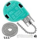 Ceiling Fan Switch, 1 Pack UL Listed Fan Switch for Ceiling Fan 3 Speed 4 Wire, Zing Ear ZE-268S6 Pull Chain Switch Replacement Fan Speed Control Switch for Ceiling Fan Light,Wall Lamps,Cabinet Light