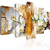 BYSQX 5 Pieces Wall Art Modular DIY Color Flower Orchid Home Kitchen Posters Prints Picture Print On Canvas Canvas Print Modular Painting Poster Wall Stickers Murals Canvas Painting Wall 200X100CM