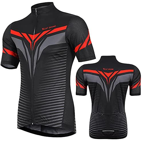 Maillot de ciclismo para hombre, de manga corta, con 16 bolsillos, cómodo y transpirable, resistente al viento, secado rápido, para ciclismo, correr, ciclismo, senderismo, montañismo