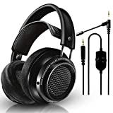 Philips Audio Fidelio X2HR Over-Ear Open-Air Headphone 50mm Drivers (Black) + NeeGo Attachable...